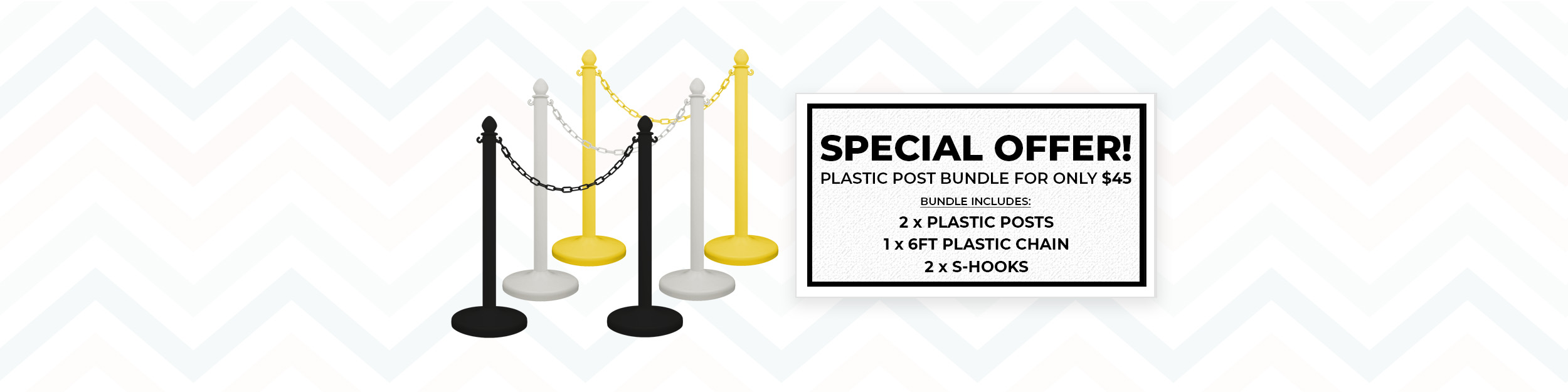 300 Plastic Post banner USE